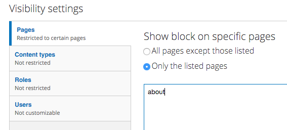 Facebook Page Plugin Block visibility settings